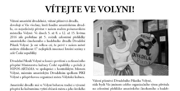 Zpravodaj Divadelního Pikniku 2016 – číslo 1
