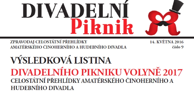 Výsledková listina Divadelního Pikniku Volyně 2017